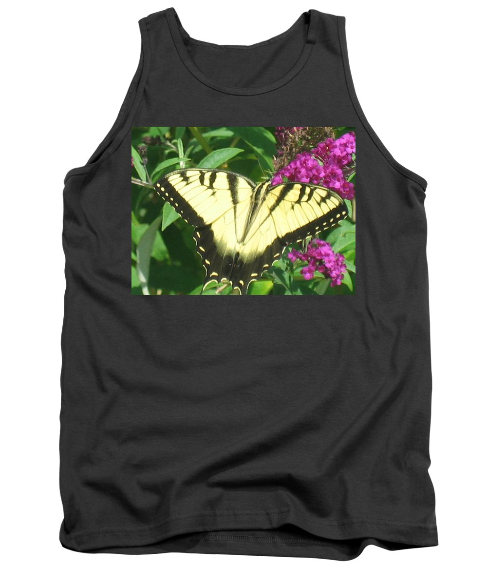 Butterfly Tank Top featuring the photograph Tiger Swallowtail by Belinda Stucki