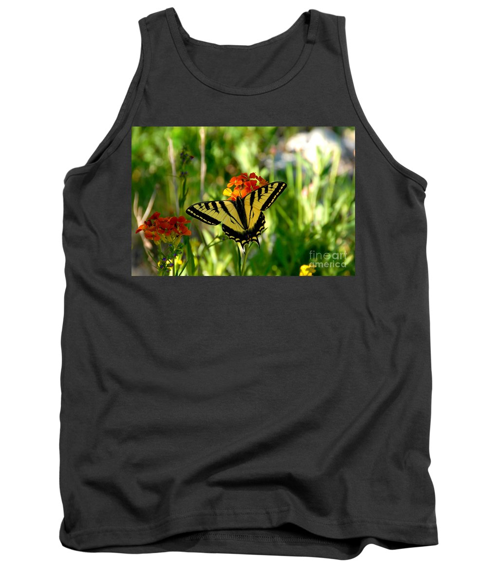 Tiger Tail Butterfly Tank Top featuring the photograph Tiger Tail Beauty by David Lee Thompson