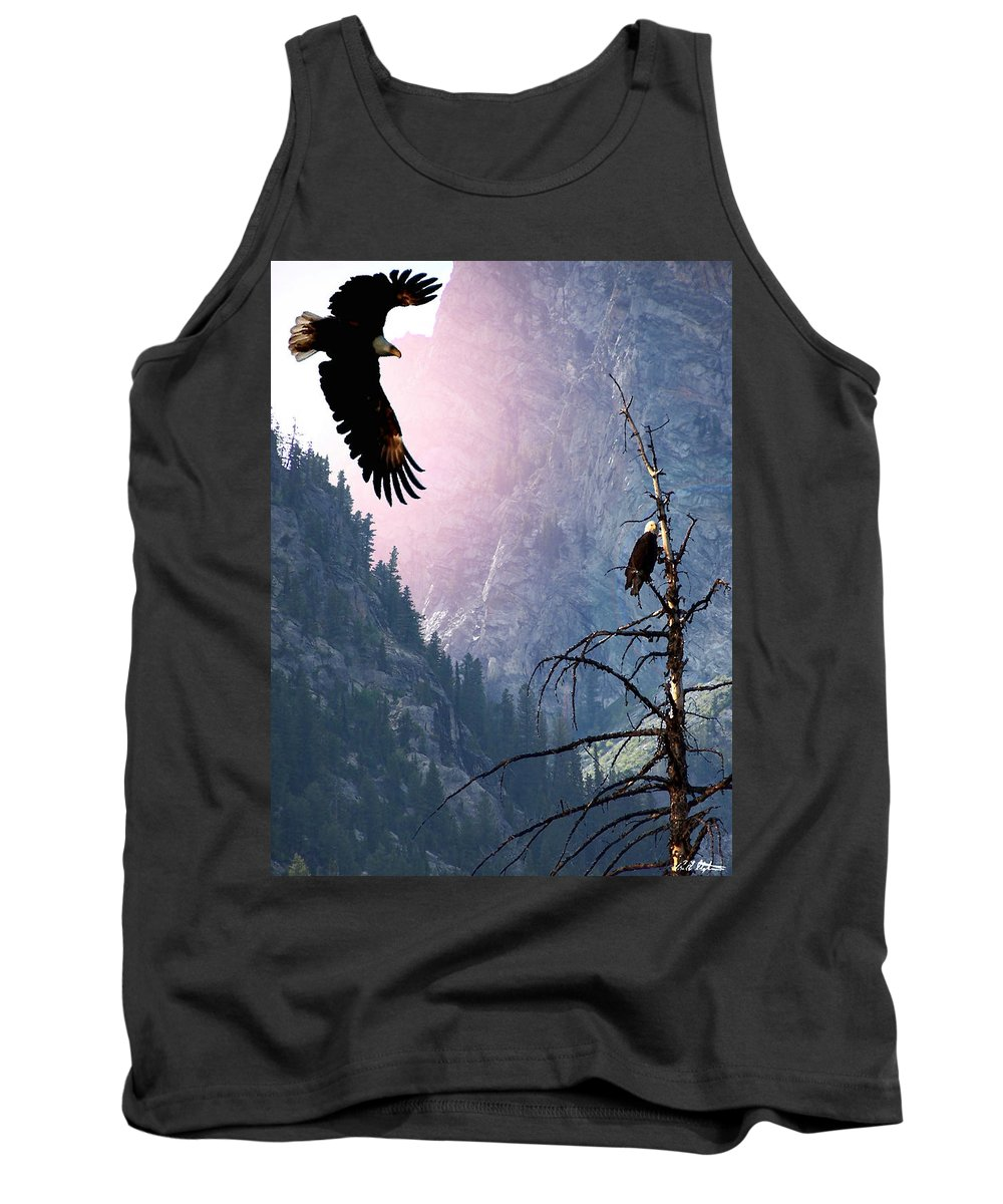 Eagles Tank Top featuring the digital art Till Death Do Us Part by Barbara Stephens