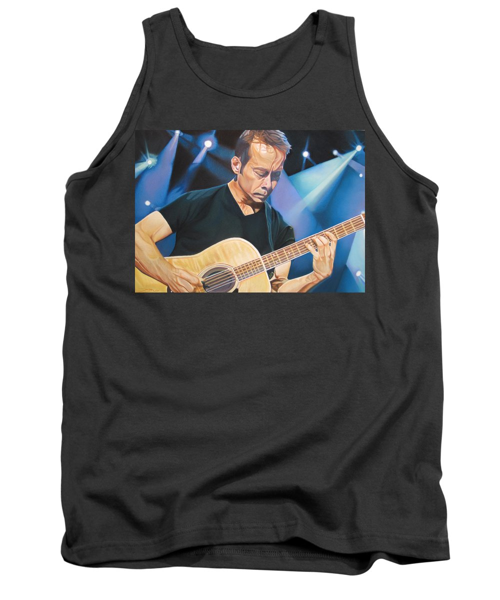 Tim Reynolds Tank Top featuring the drawing Tim Reynolds And Lights by Joshua Morton