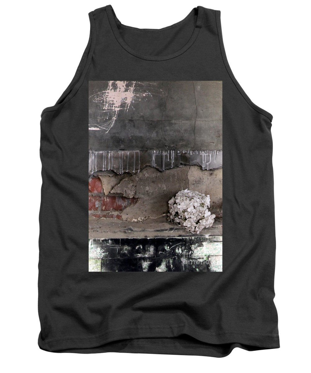 Flower Tank Top featuring the photograph Time Deceiveslove Remains by Amanda Barcon