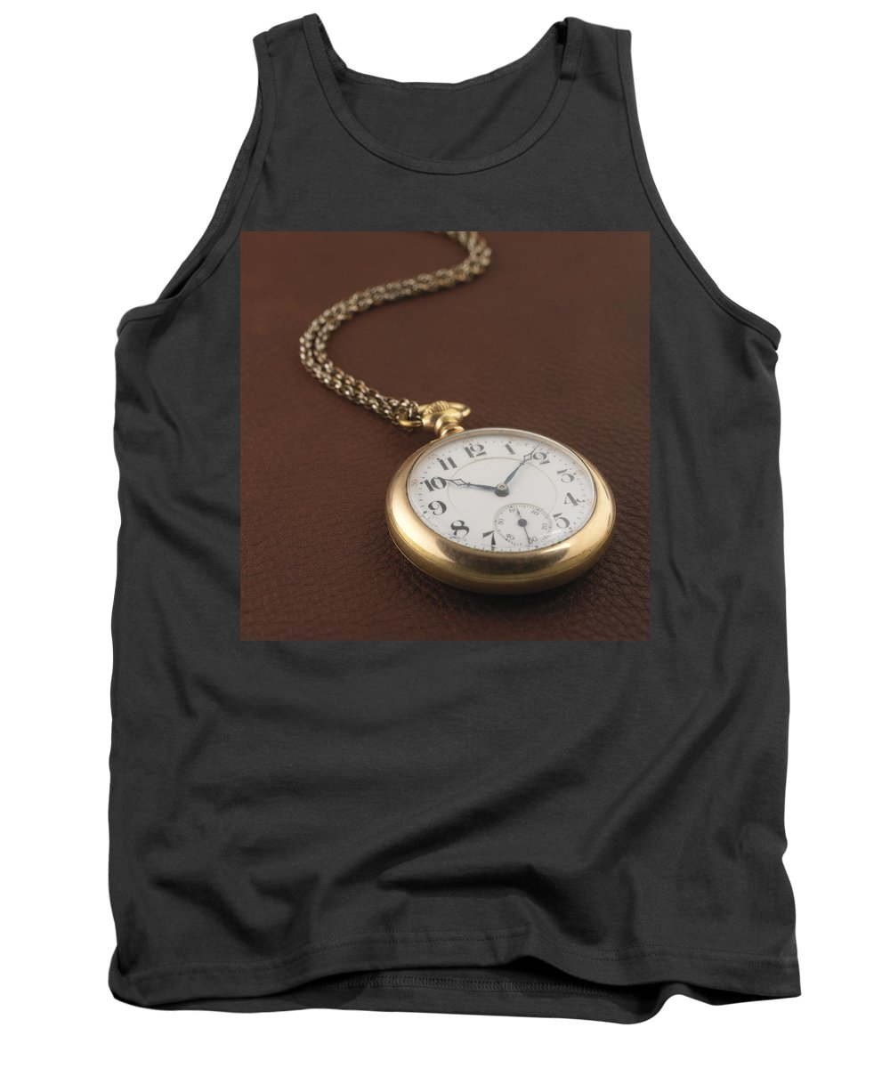 Pocket Watch Tank Top featuring the photograph Time by Jerry McElroy