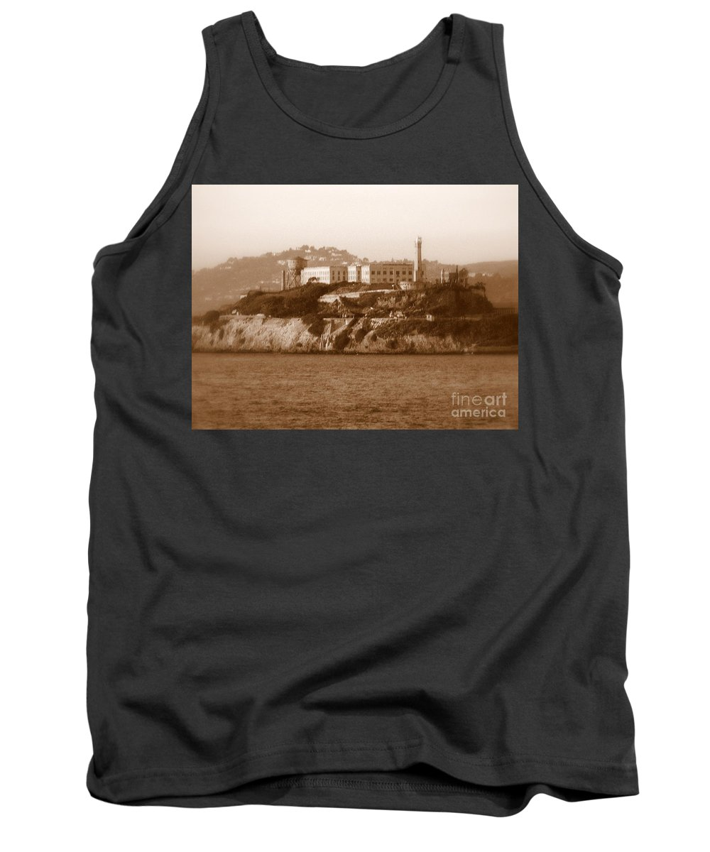 San Francisco Tank Top featuring the photograph Timeless Alcatraz by Carol Groenen