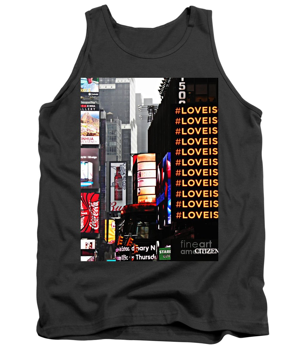 Times Square Tank Top featuring the photograph Times Square by Sarah Loft