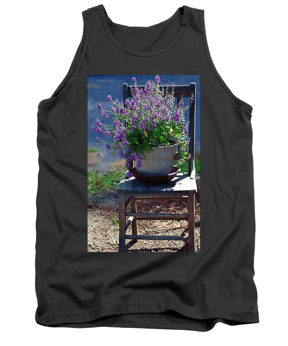 Chair Tank Top featuring the photograph Tired by Donna Bentley