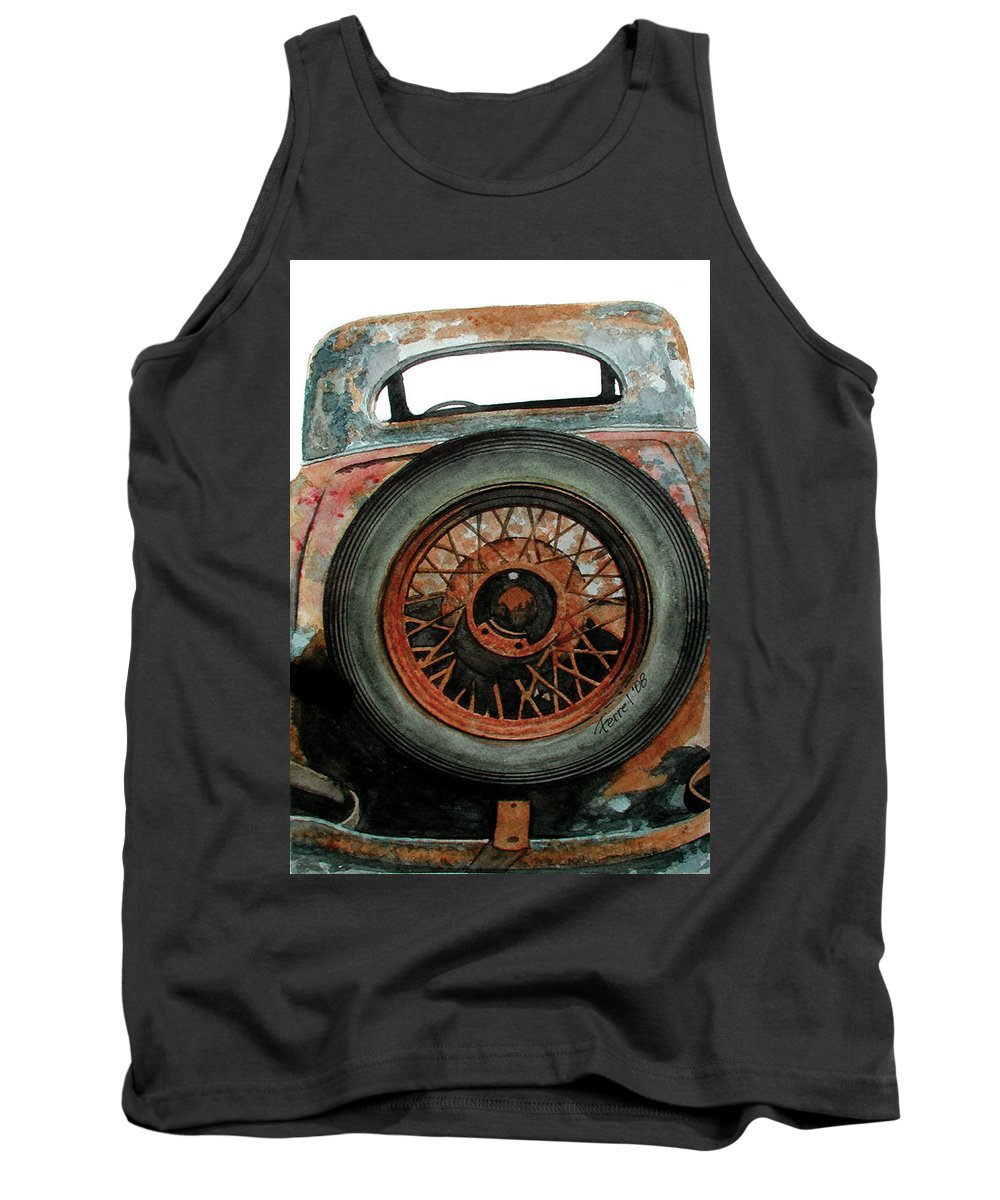 Car Tank Top featuring the painting Tired by Ferrel Cordle