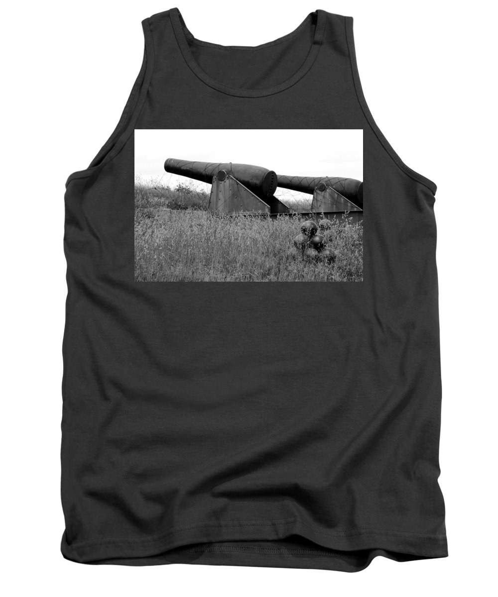 Cannon Tank Top featuring the photograph To Protect And Serve by Greg Fortier