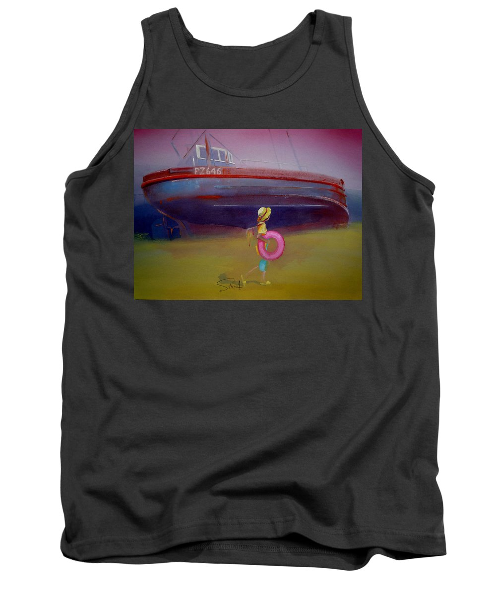 Penzance Tank Top featuring the painting To The Lighthouse by Charles Stuart