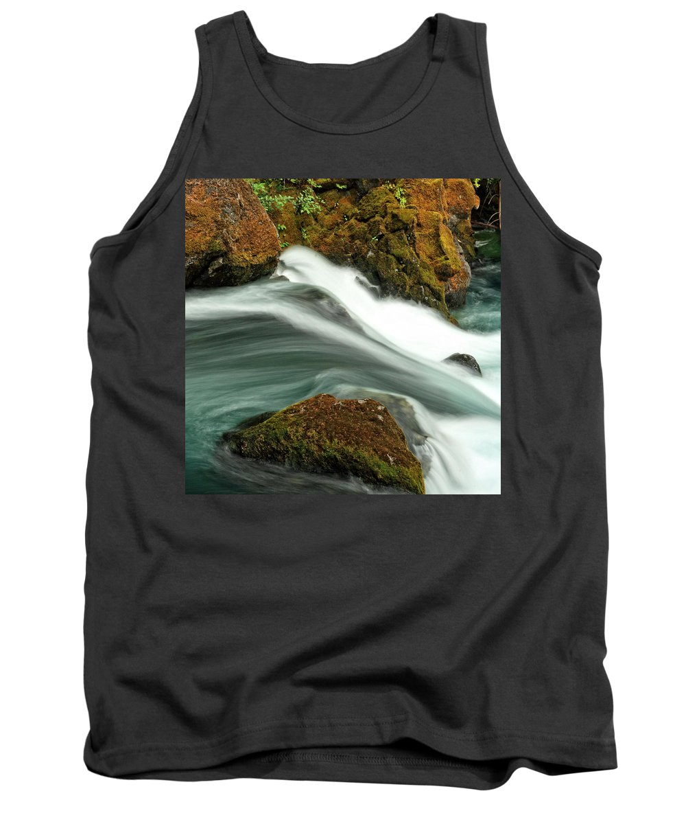 Columbia Gorge Tank Top featuring the photograph Toketee Falls 8 by Ingrid Smith-Johnsen