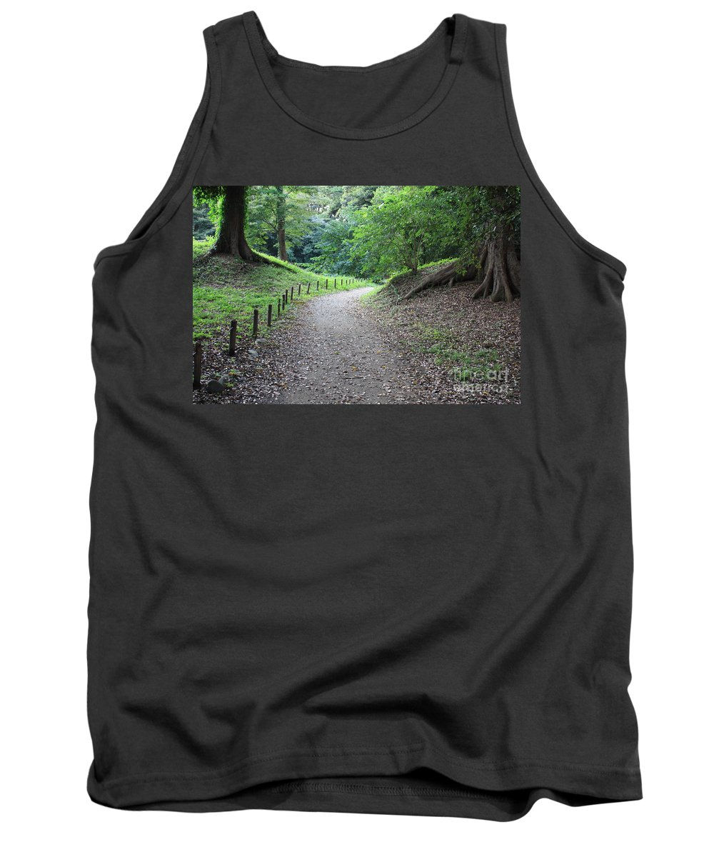 Path Tank Top featuring the photograph Tokyo Park Path by Carol Groenen