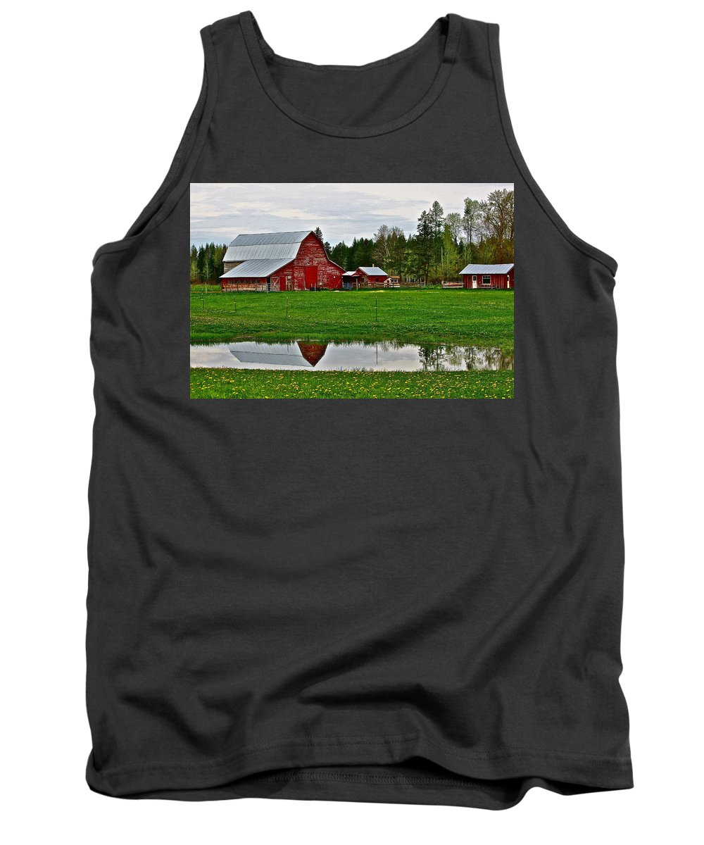 Barn Tank Top featuring the photograph Tom And Sylvia's by Diana Hatcher