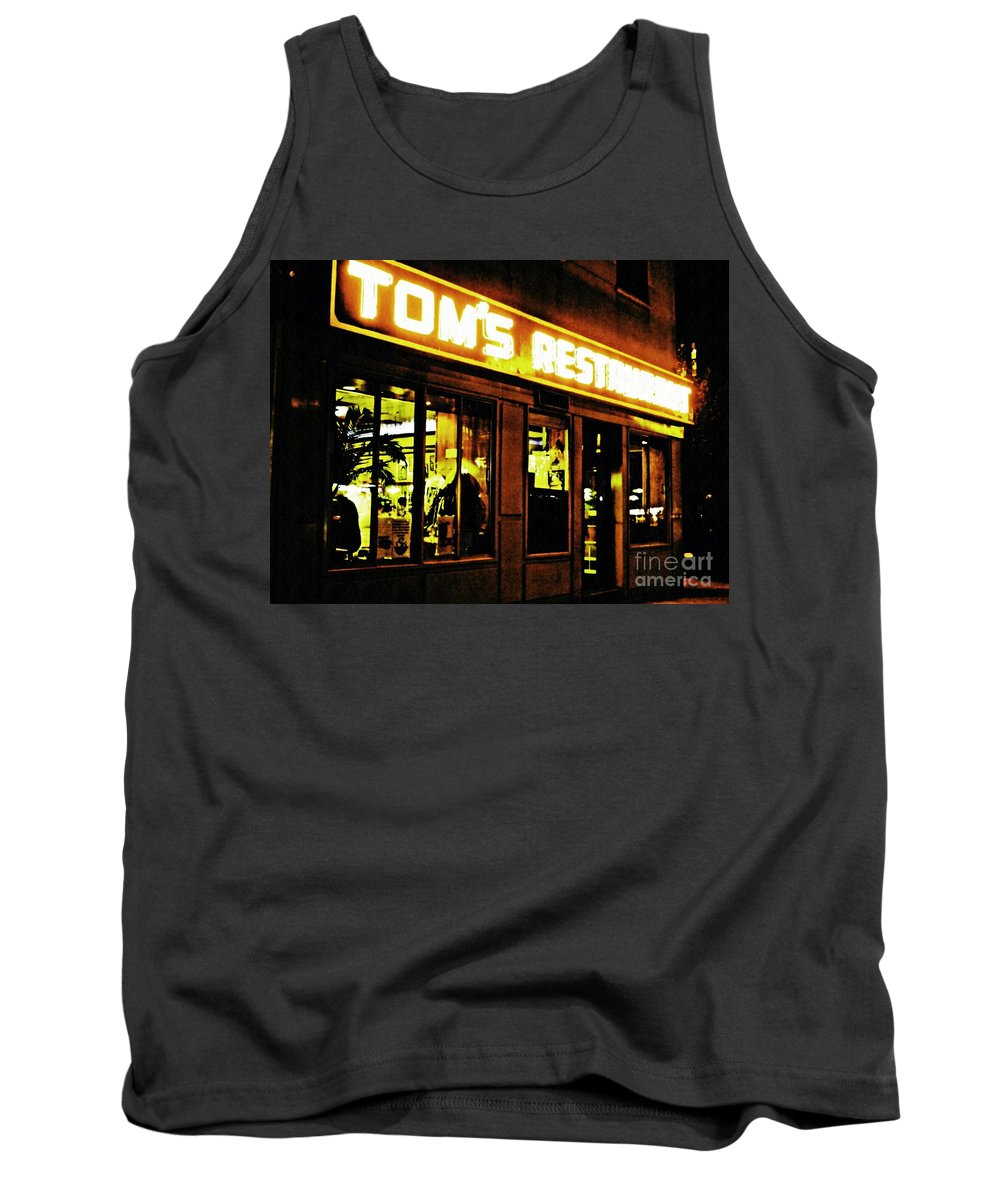 Diner Tank Top featuring the photograph Tom's Restaurant by Sarah Loft