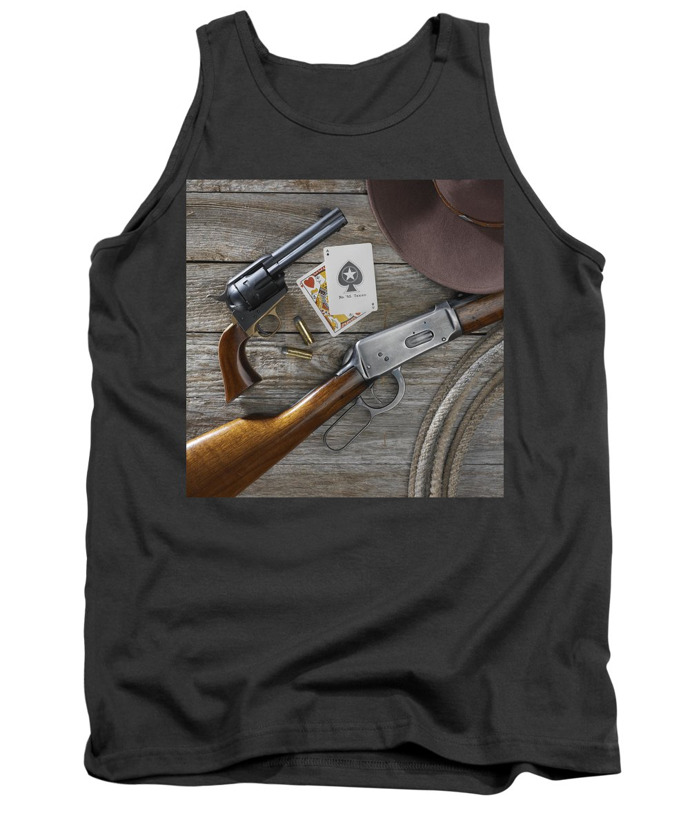 Old West Tank Top featuring the photograph Tools Of The Trade by Jerry McElroy