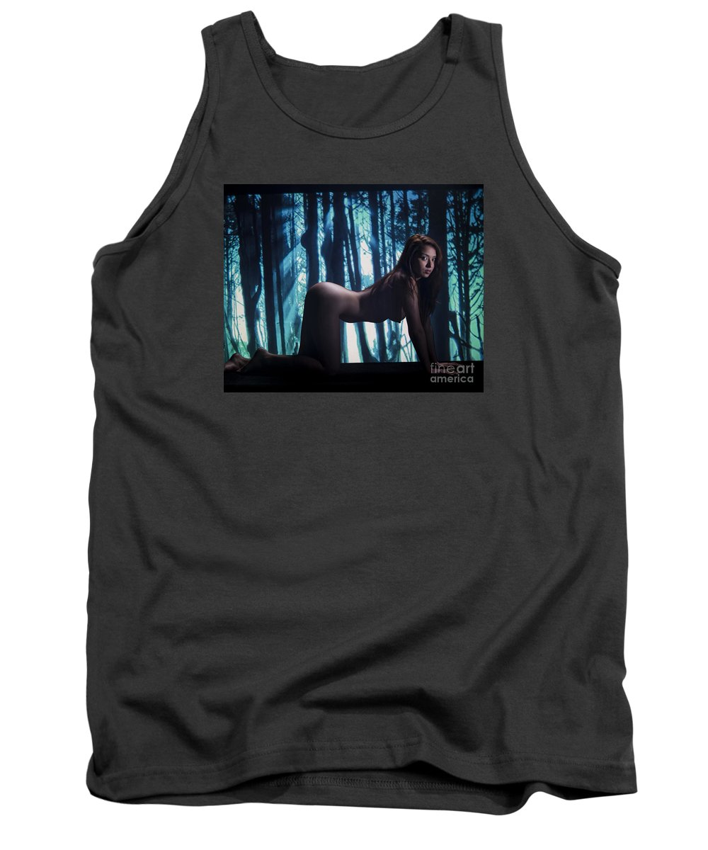 Toriwaits Tank Top featuring the photograph Toriwaits Nude Fine Art Print Photograph In Color 5071.02 by Kendree Miller