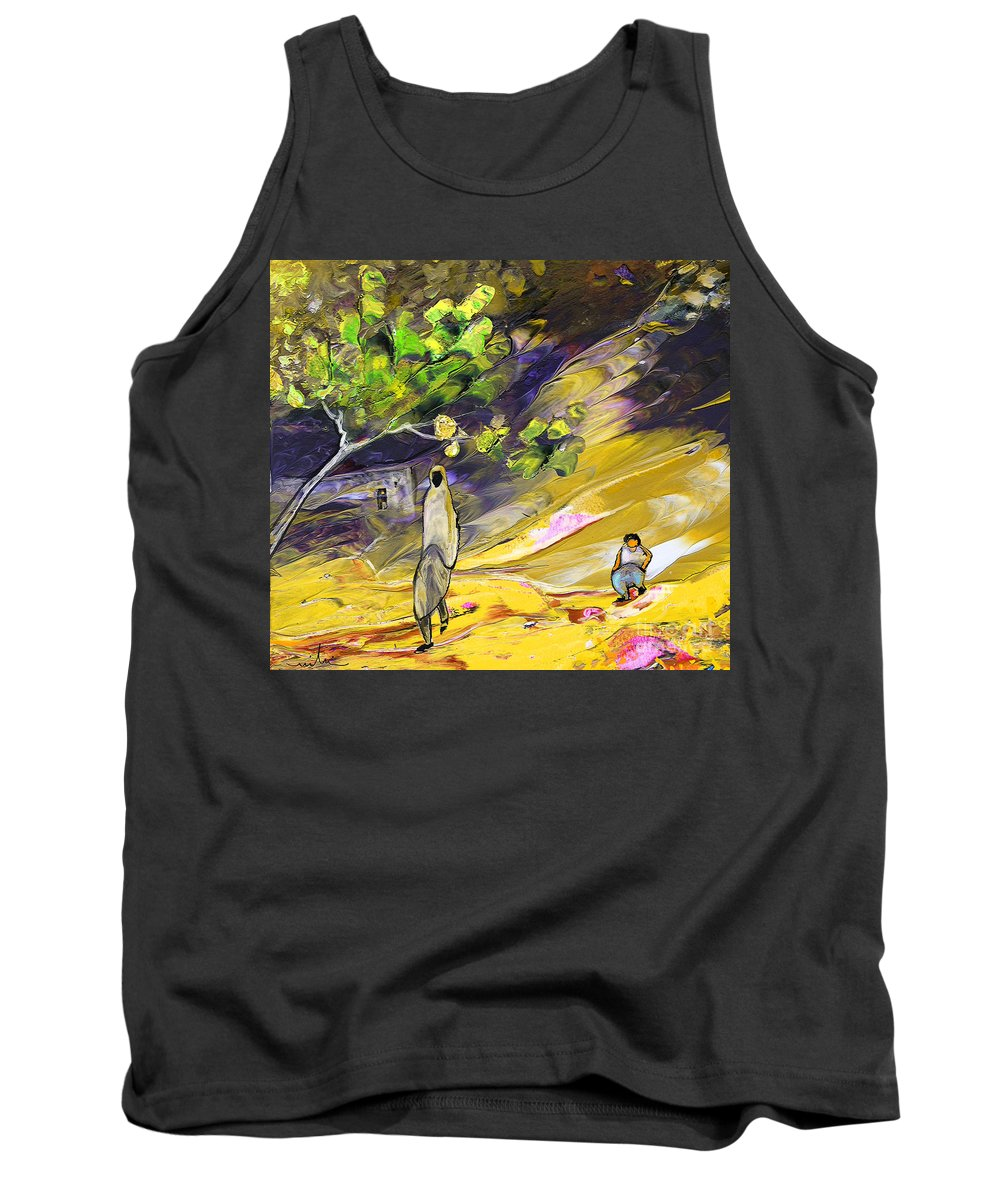 Tornado Tank Top featuring the painting Tornado by Miki De Goodaboom