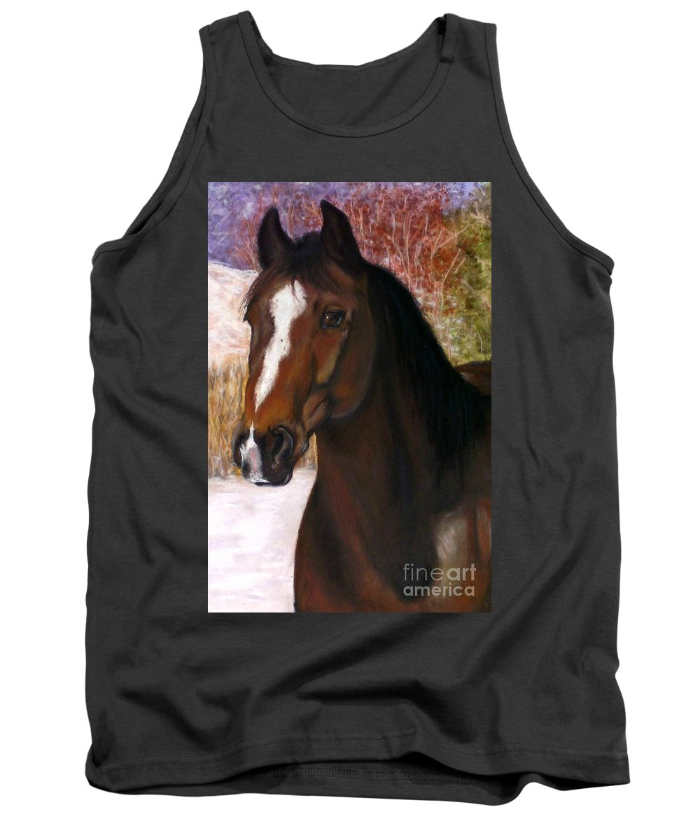 Horse Tank Top featuring the painting Toronto by Frances Marino