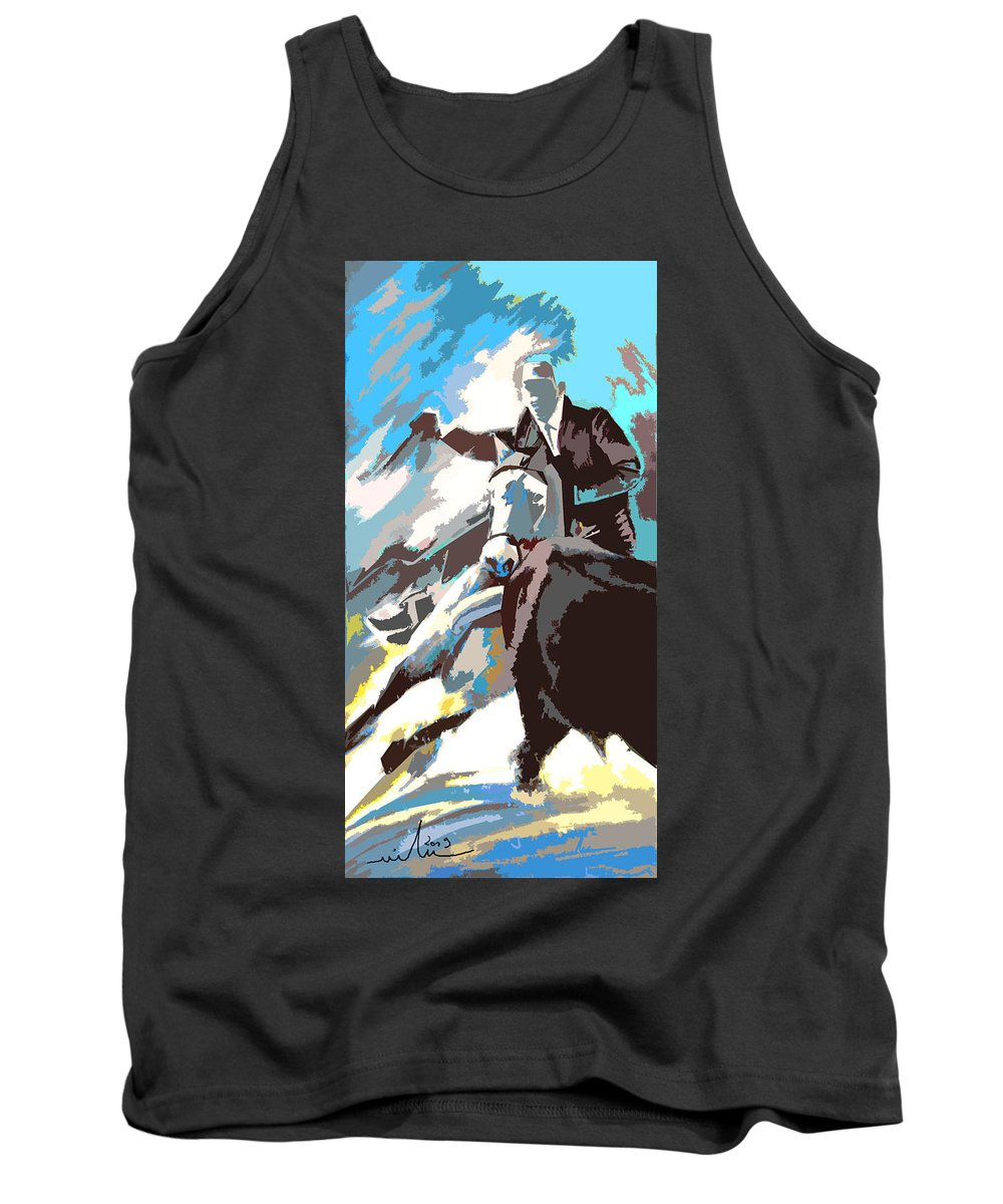 Animals Tank Top featuring the painting Toroscape 31 by Miki De Goodaboom
