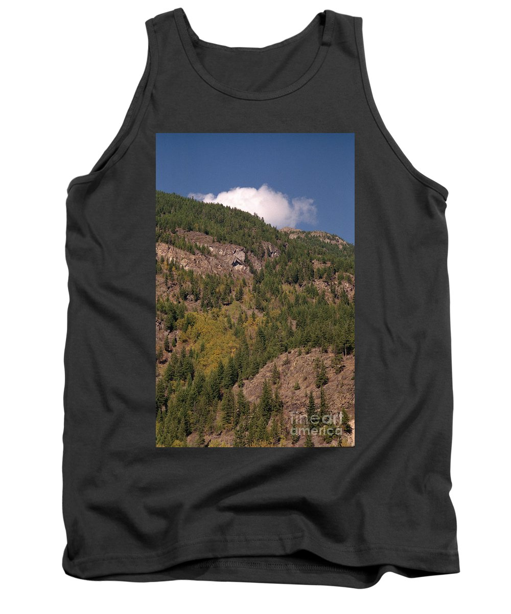 Mountains Tank Top featuring the photograph Touching The Clouds by Richard Rizzo