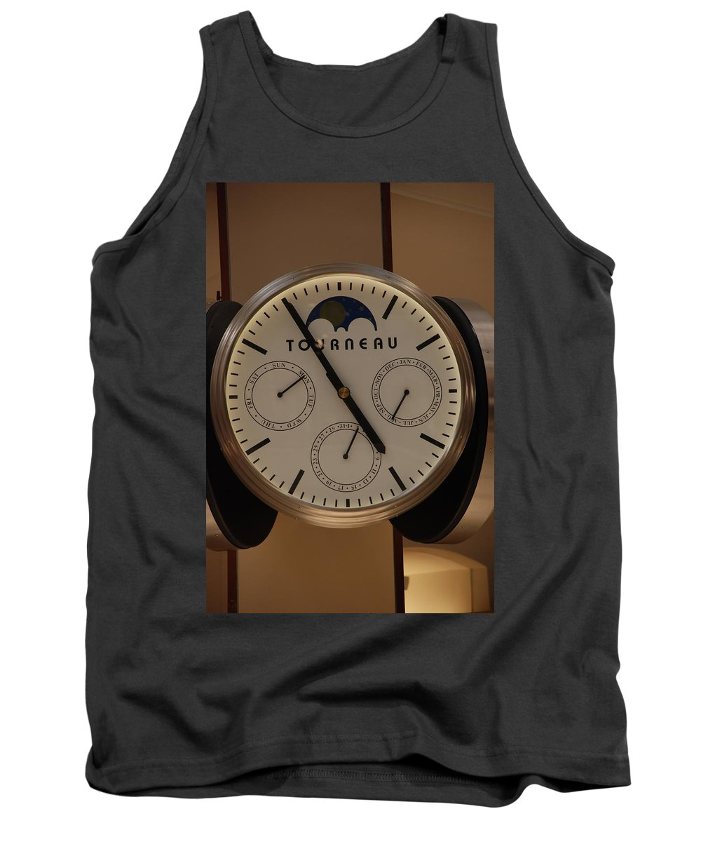 Clock Tank Top featuring the photograph Tourneau by Rob Hans
