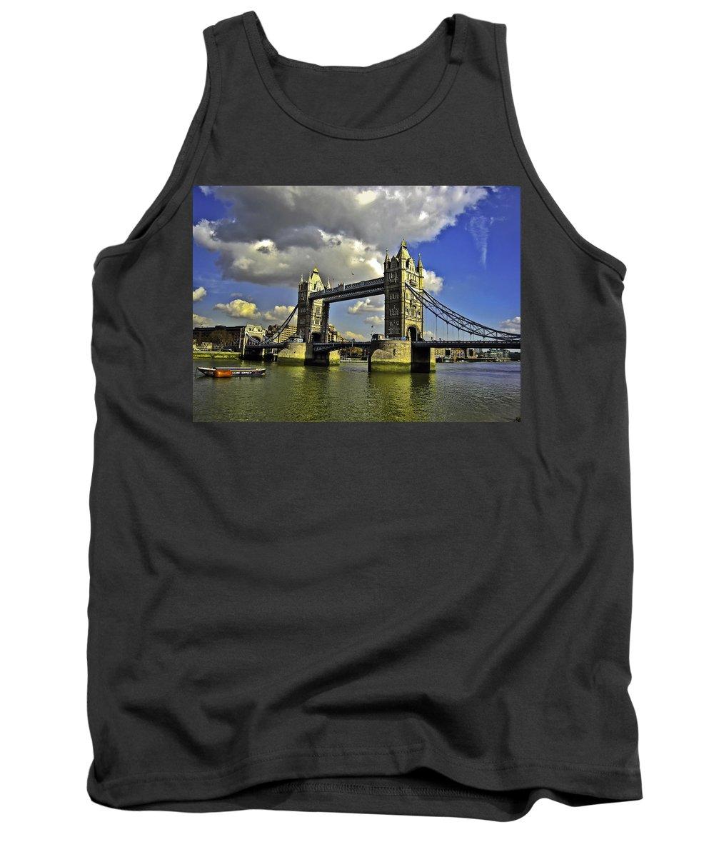 Bridge Tank Top featuring the photograph Tower Bridge I by Madeline Ellis