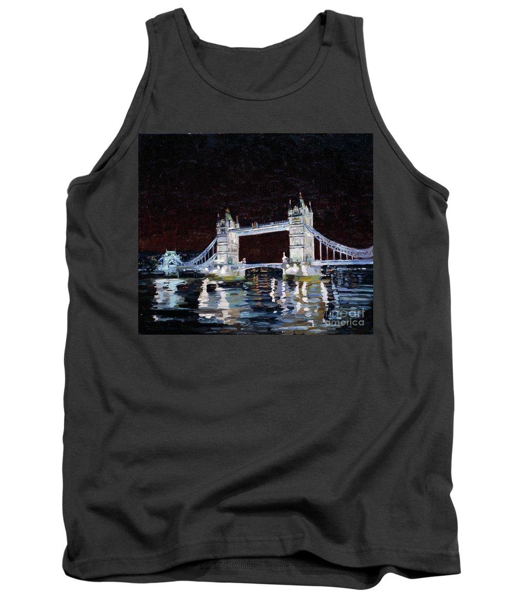 London Tank Top featuring the painting Tower Bridge by Simon Kozhin
