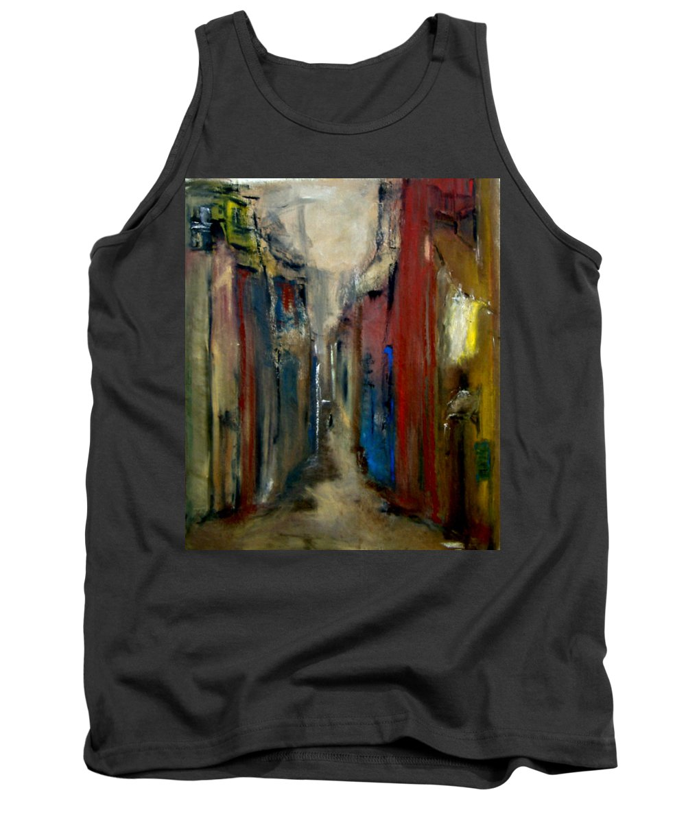 Abstract Tank Top featuring the painting Town by Rome Matikonyte