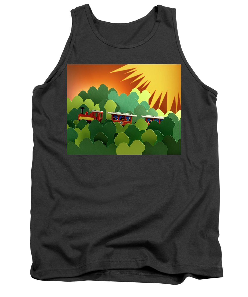 Train Tank Top featuring the photograph Toy Train by Stefania Levi