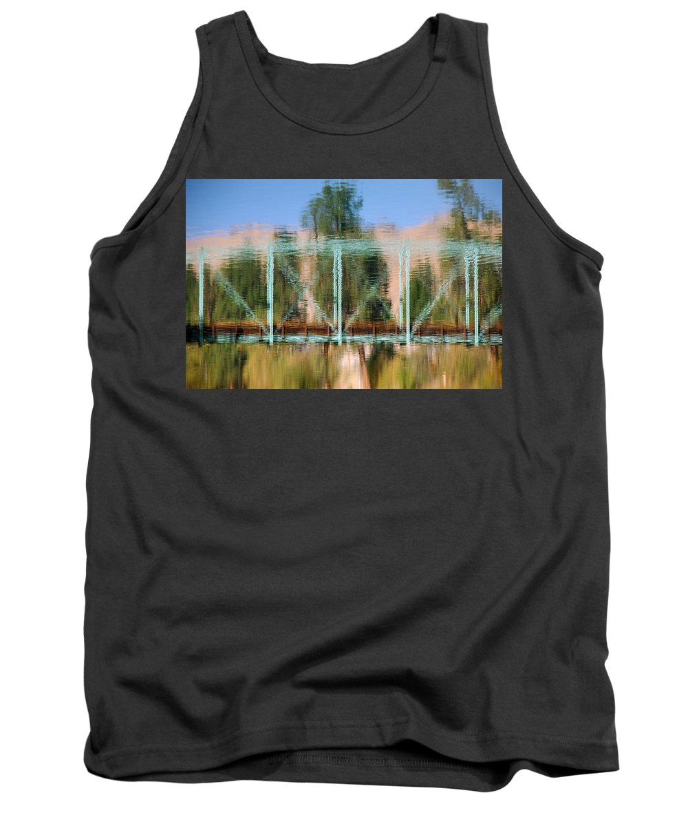 Water Tank Top featuring the photograph Train Bridge by Donna Blackhall