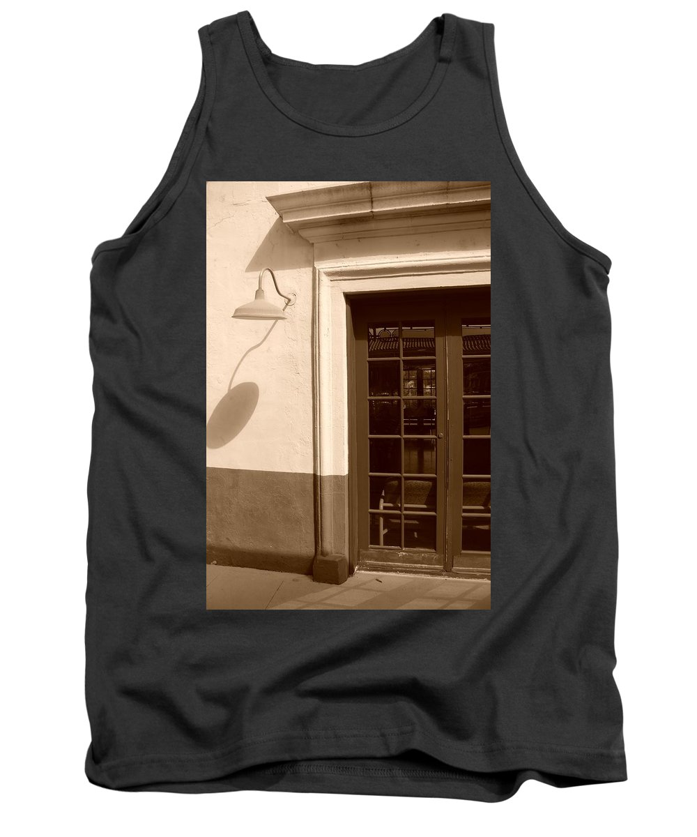 Sepia Tank Top featuring the photograph Train Station Of The 40s by Rob Hans