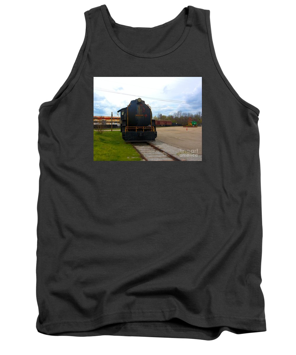 Train Tank Top featuring the photograph Trains 3 Selfoc by Jay Mann