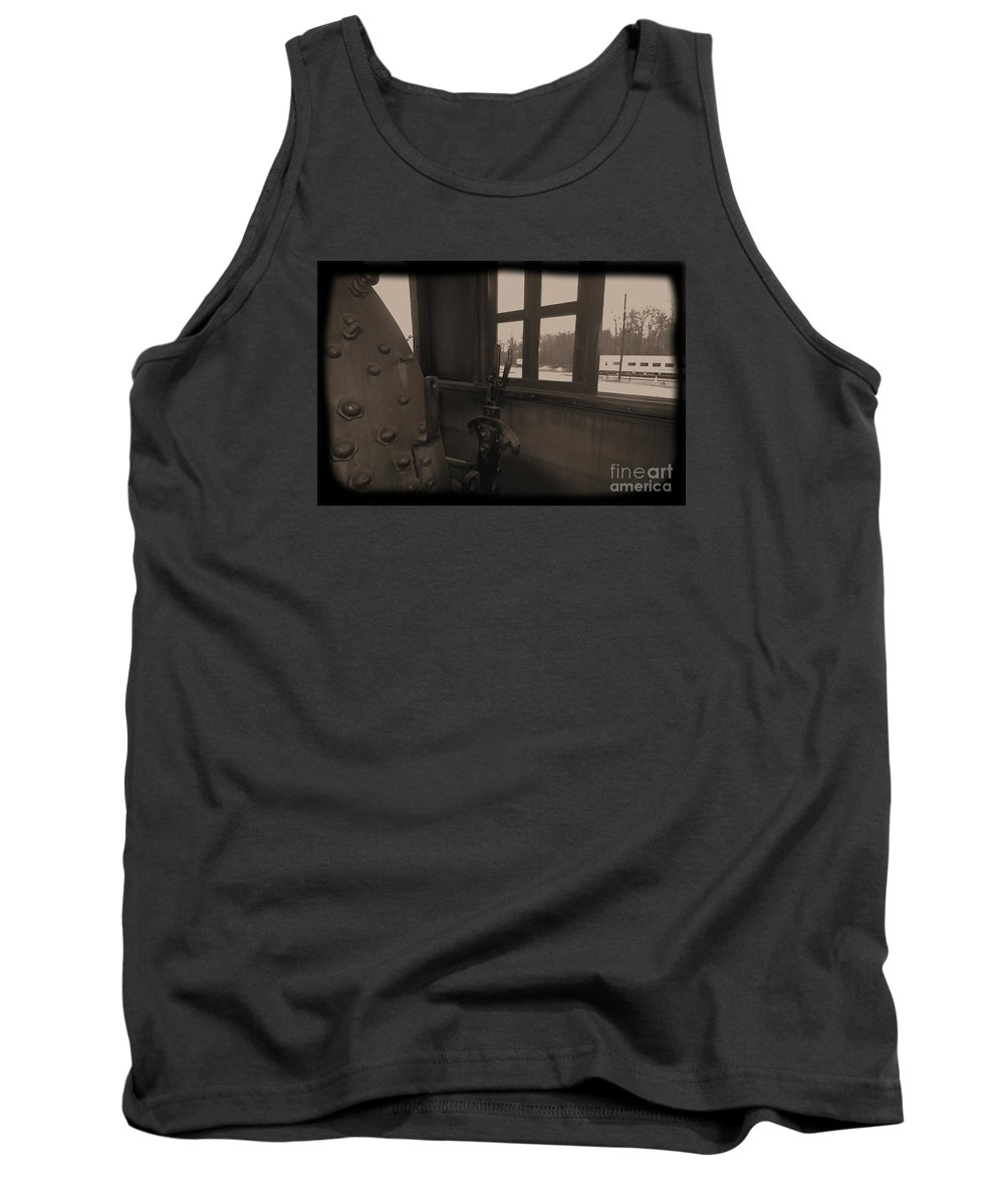 Train Tank Top featuring the photograph Trains 5 1 by Jay Mann