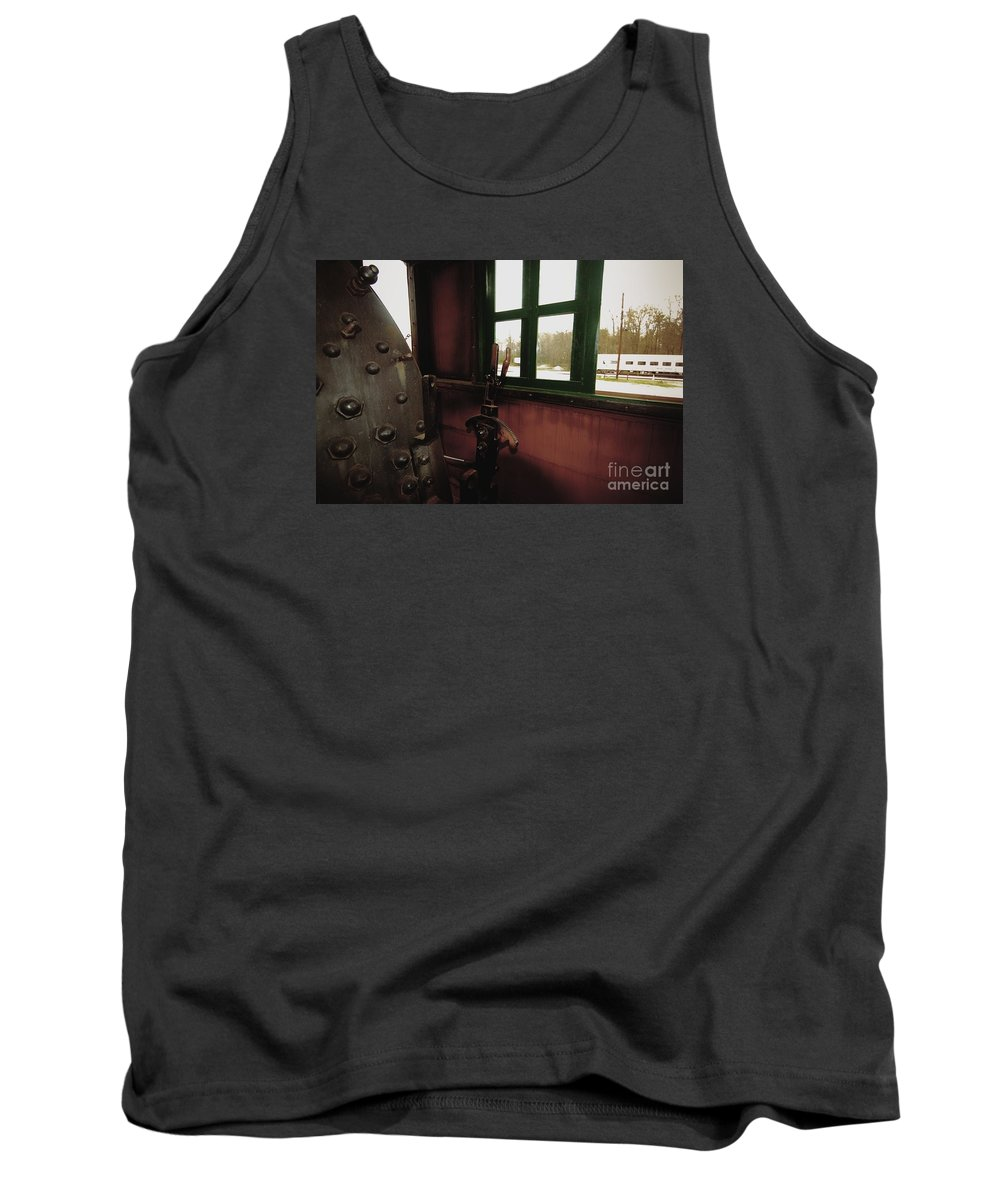 Train Tank Top featuring the photograph Trains 5 Retro by Jay Mann