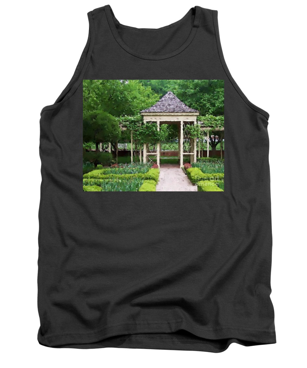 Garden Tank Top featuring the photograph Tranquil by Debbi Granruth