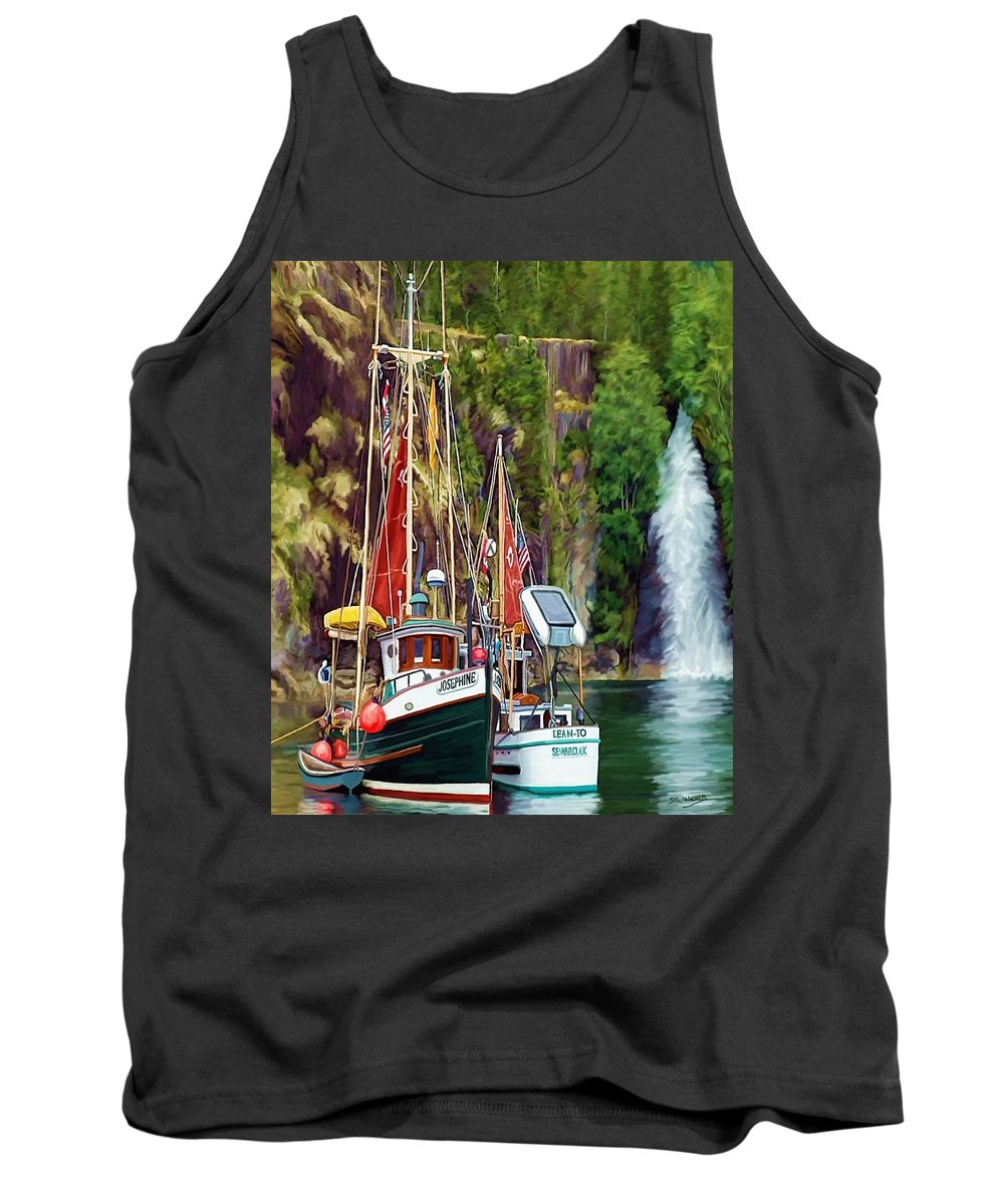 Boats Tank Top featuring the painting Tranquility by David Wagner