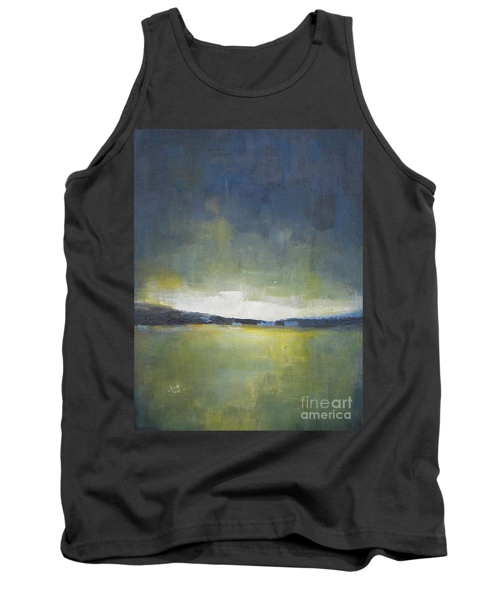 Landscape Tank Top featuring the painting Tranquility Of The Sunset by Vesna Antic