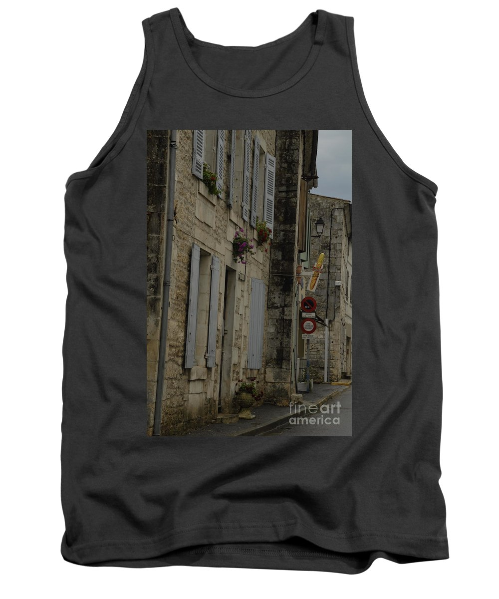 Travel Photography Nearby Towns To La Rochelle And Chambon Tank Top featuring the photograph Travel Photography France by Jenny Potter