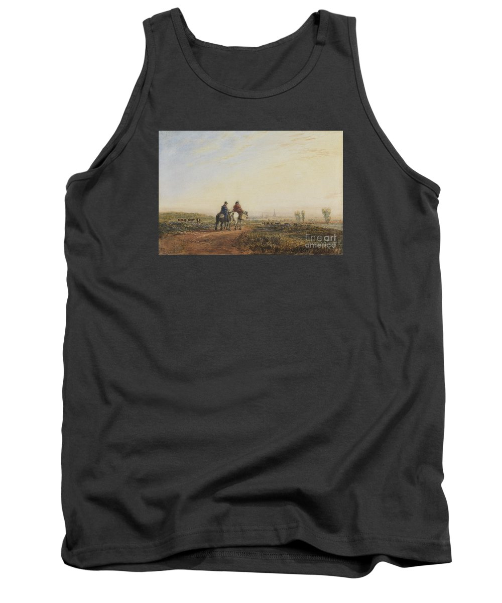 David Cox Snr (1783�1859) Travelers On The Road To Lancaster C 1832 Tank Top featuring the painting Travelers On The Road To Lancaster by Celestial Images