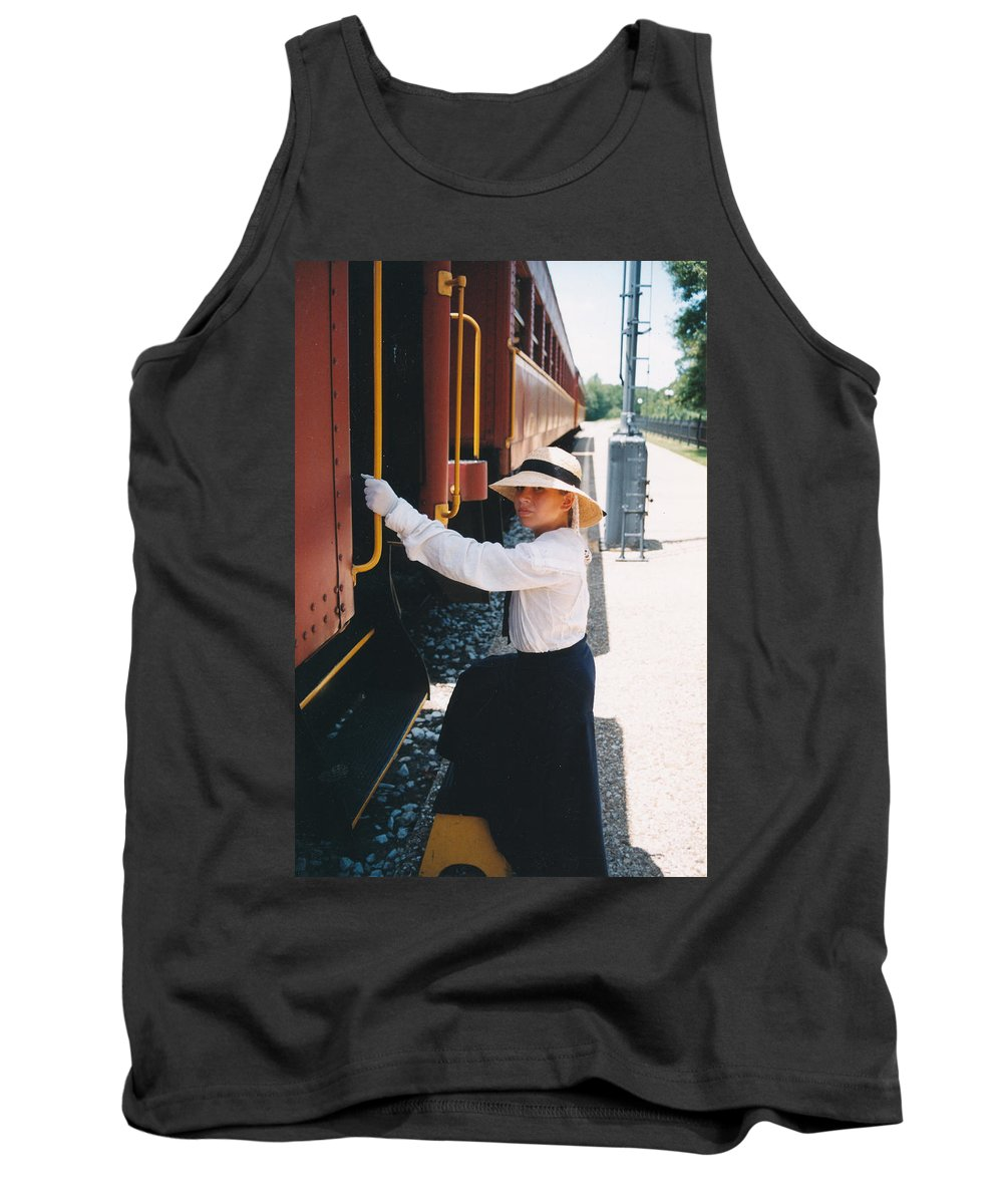 Snood Tank Top featuring the photograph Traveling By Train by Cindy New