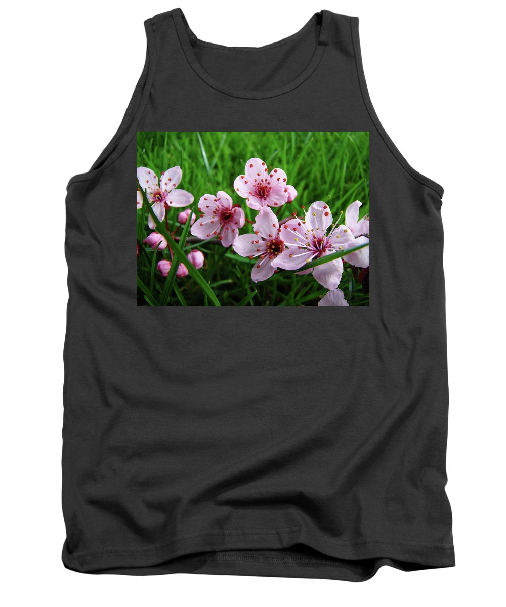 �blossoms Artwork� Tank Top featuring the photograph Tree Blossoms 4 Spring Flowers Art Prints Giclee Flower Blossoms by Baslee Troutman