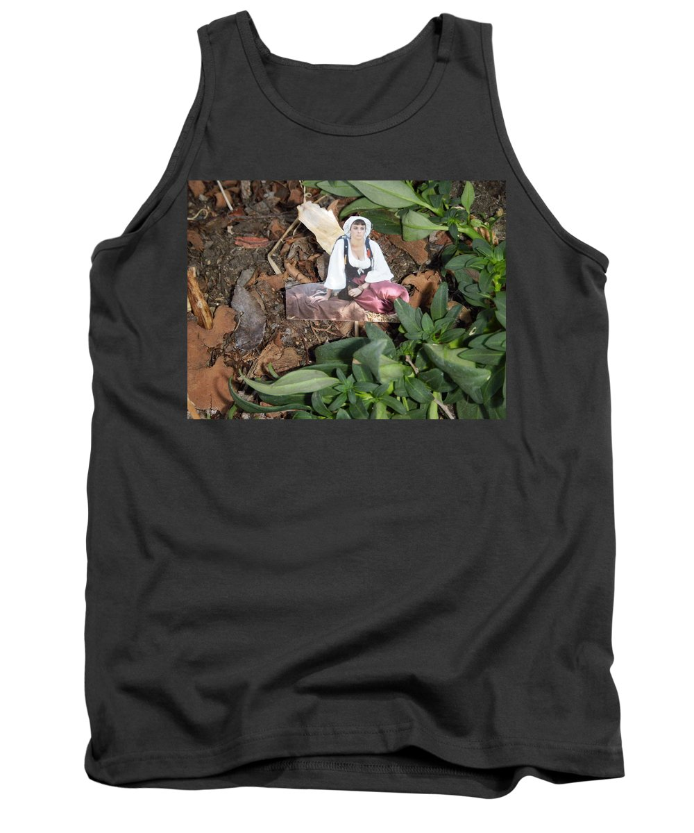 Quiet Times Tank Top featuring the photograph Tree Maiden by Edward Wolverton