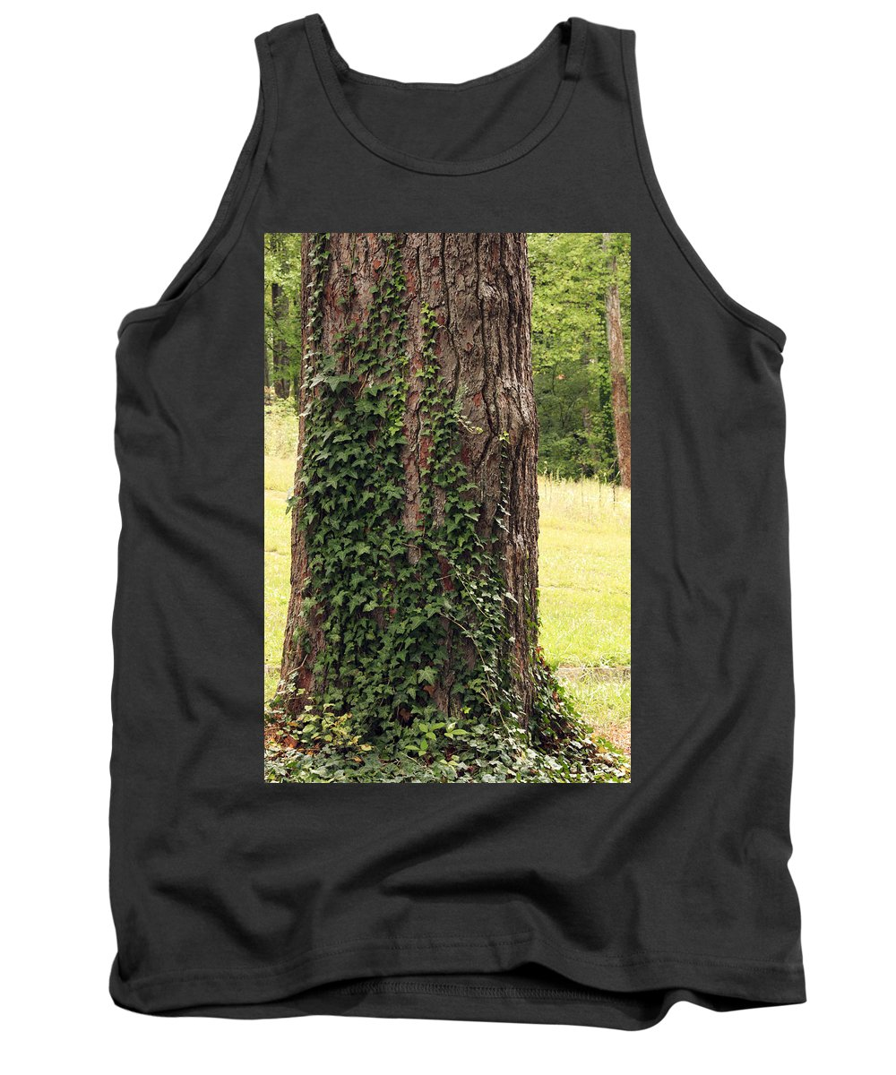 Bark Tank Top featuring the photograph Tree Of Ivy by Travis Rogers
