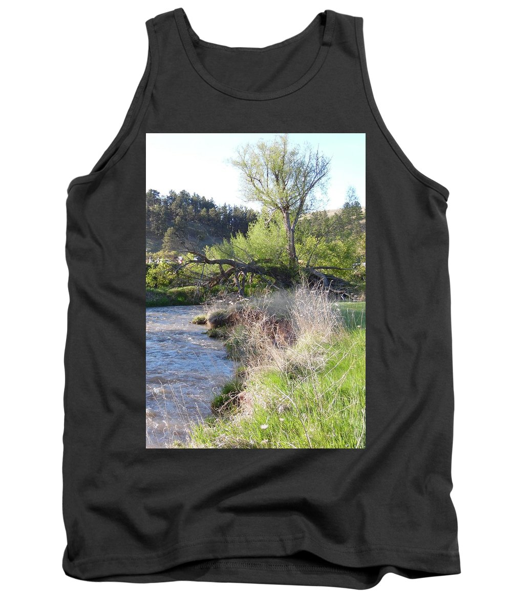 Tree Tank Top featuring the photograph Tree Over The River by Pamela Pursel