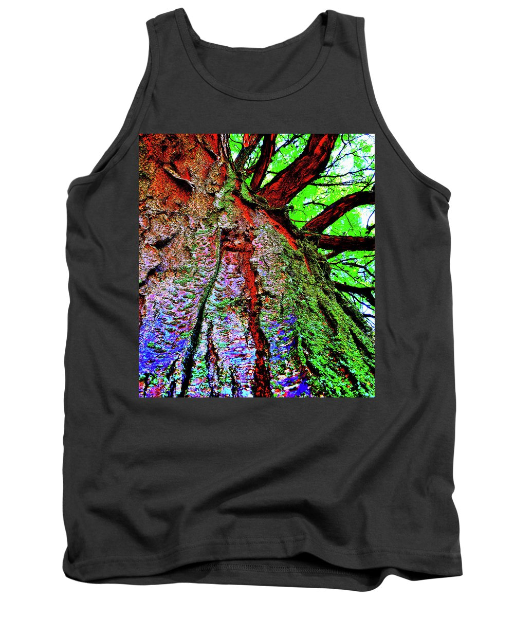 Tree Tank Top featuring the photograph Tree Skin by Carol Stephenson