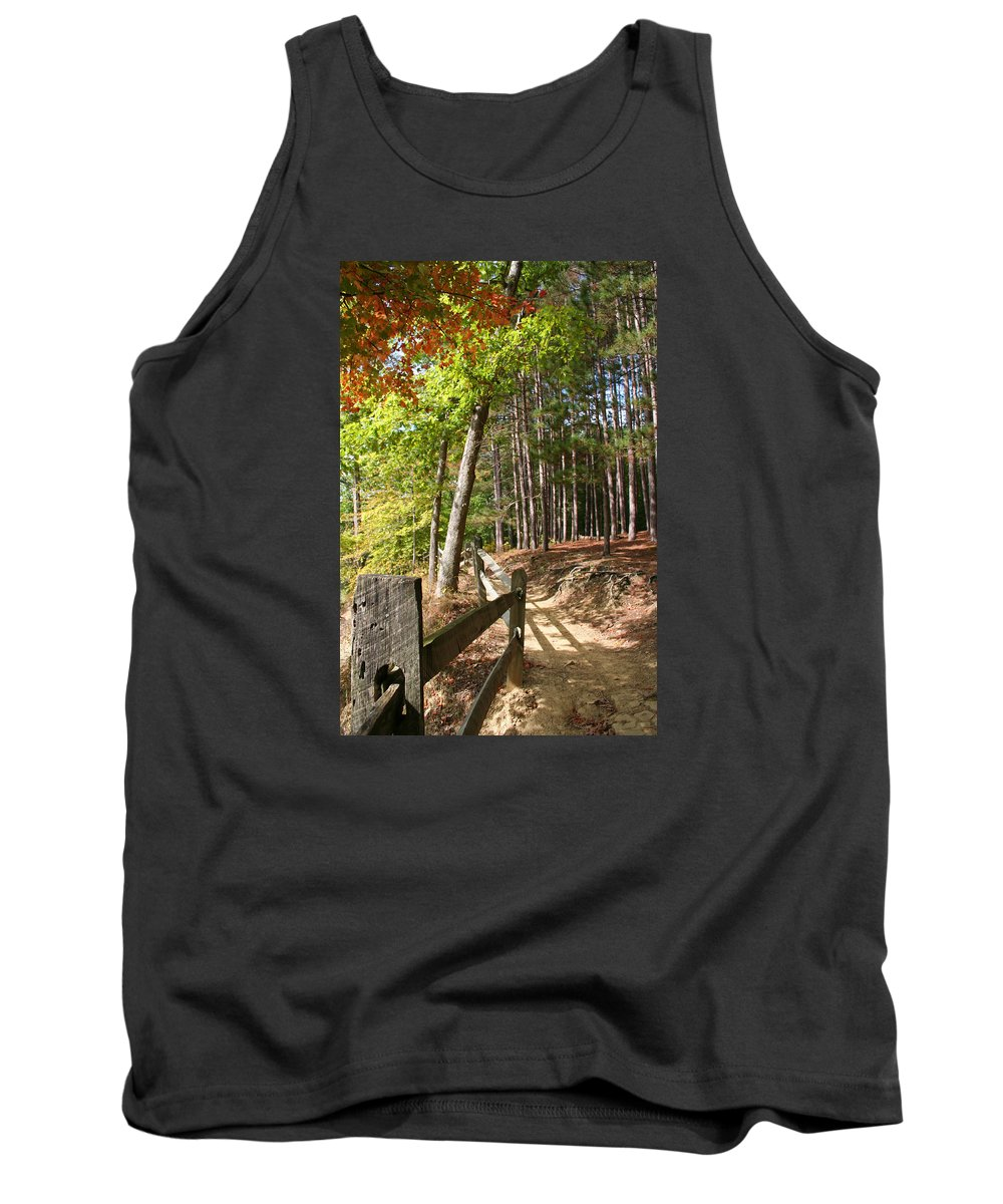 Tree Tank Top featuring the photograph Tree Trail by Margie Wildblood