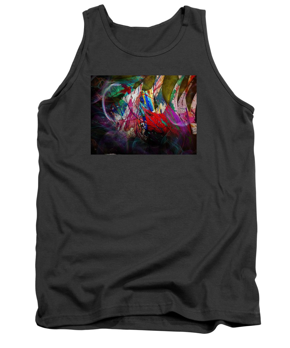 Abstract Tank Top featuring the digital art Trees by Anastasiia Klymenko