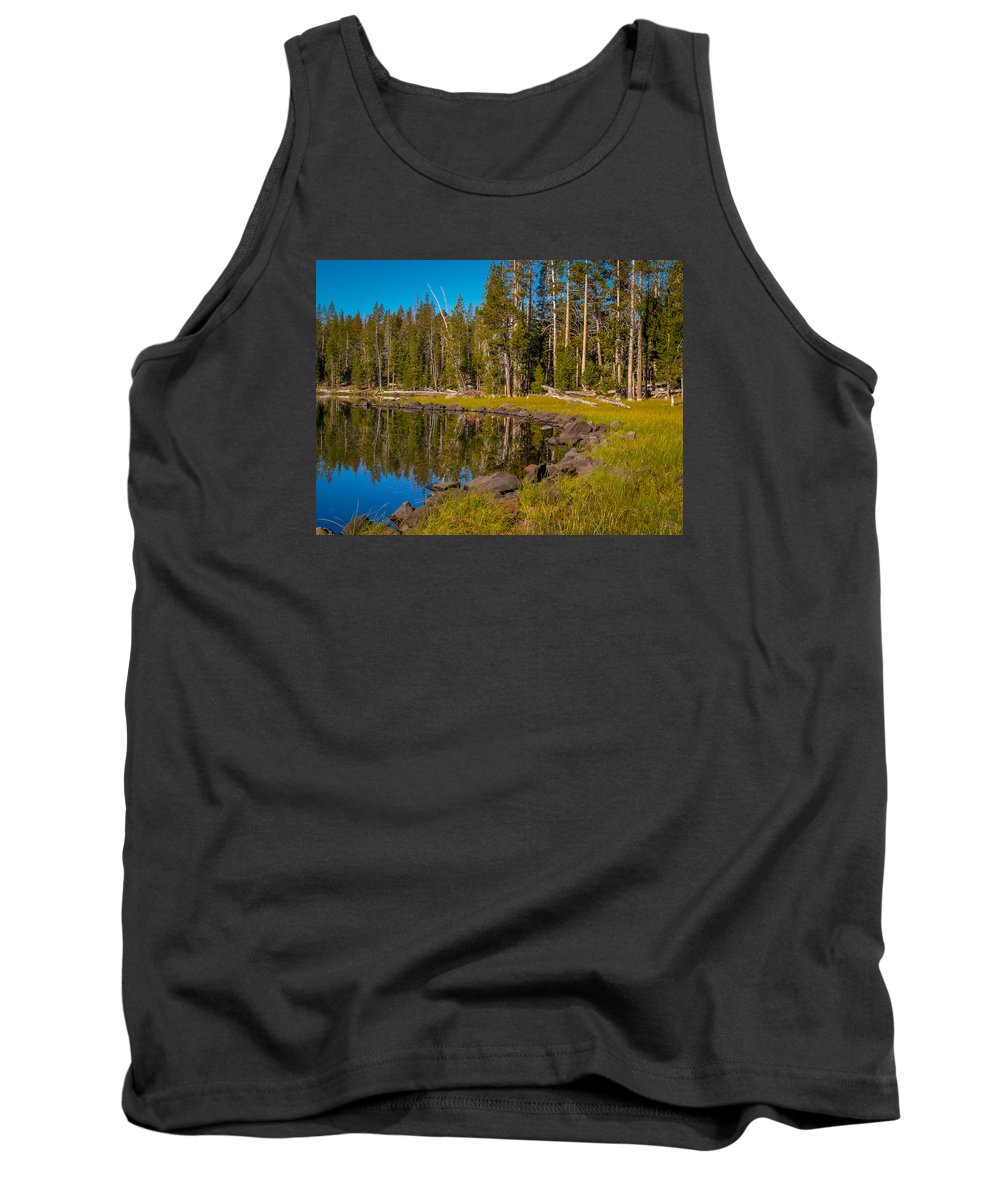 Triangle Tank Top featuring the photograph Triangle Lake by Michele James