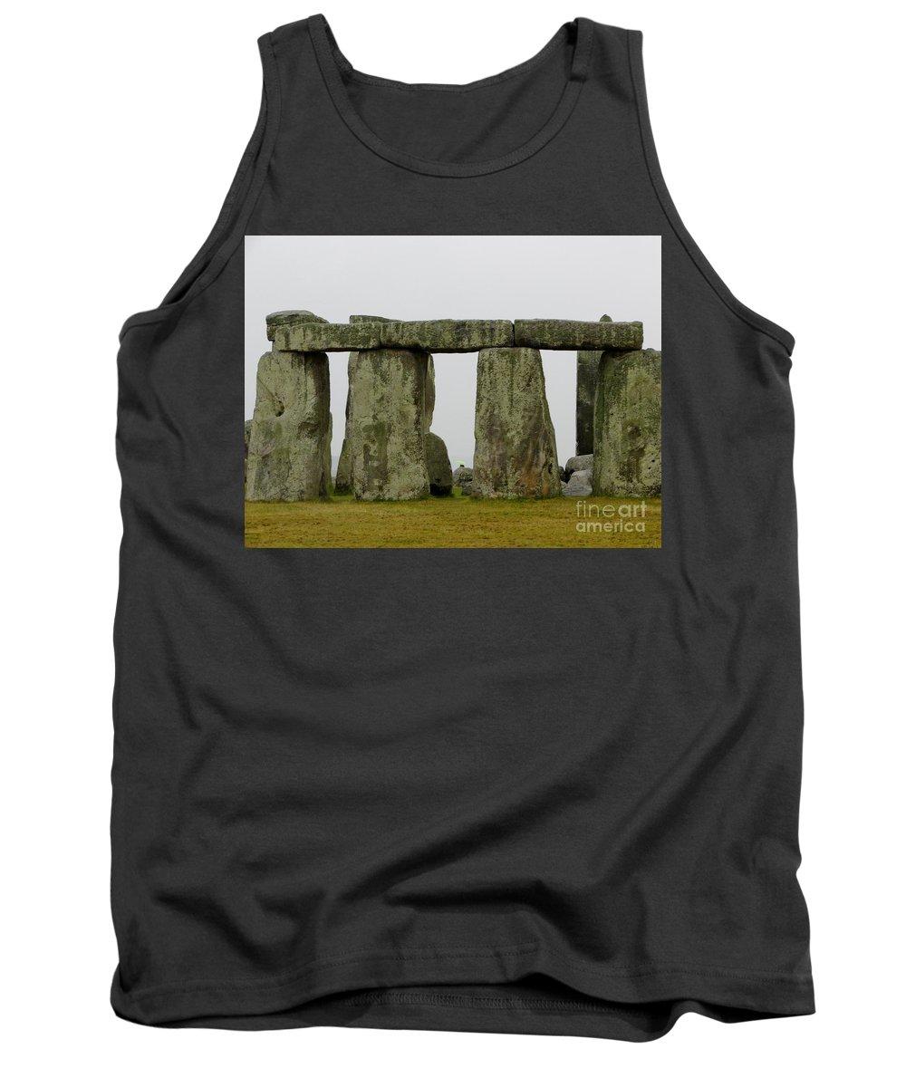 Stonehenge Photographs Tank Top featuring the photograph Trilithons by Priscilla Richardson