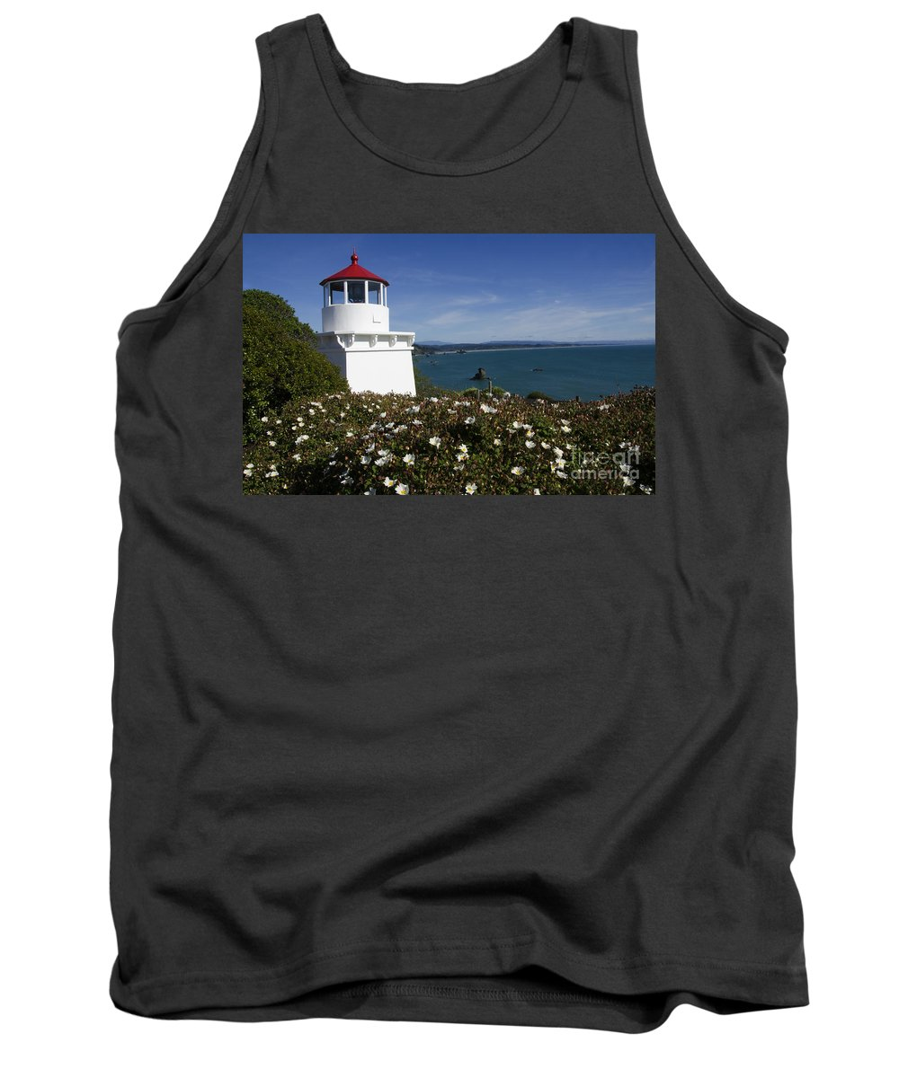 California Dreaming Tank Top featuring the photograph Trinidad Lighthouse California by Bob Christopher