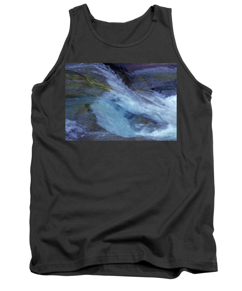 Nature Tank Top featuring the photograph Tropical Flowing Waters by Kerryn Madsen- Pietsch
