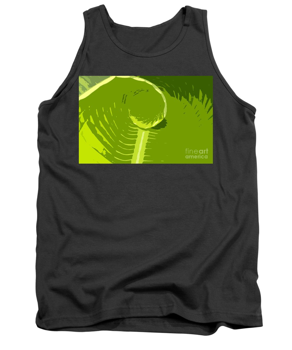 Green Tank Top featuring the digital art Tropical Green by David Lee Thompson